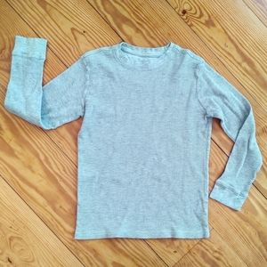 French Toast Thermal Waffle Grey Boys Size 8/10